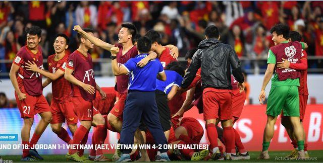Ngay sau chiến thắng của Đội tuyển bóng đá nam trước đối thủ Jordan tại vòng 1/8 Asian Cup 2019.