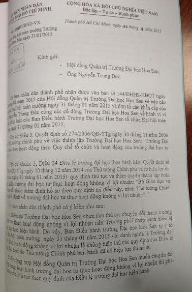 """Lùm xùm tại Đại học Hoa Sen, TP Hồ Chí Minh: Tự phong """"phi lợi nhuận"""" để che giấu lợi nhuận"""
