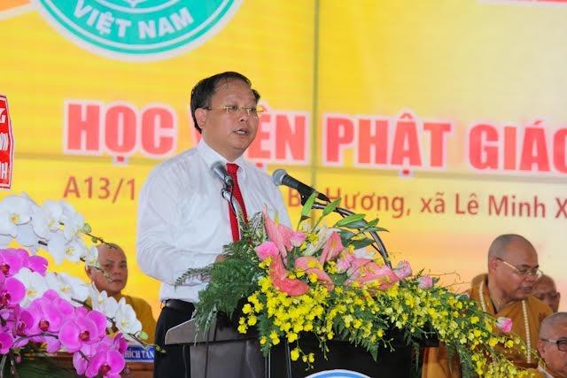 Ông Tất Thành Cang -Phó Bí thư thường trực Thành ủy TP HCMđã có lời phát biểu chúc mừng sự thành công của buổi lễ.