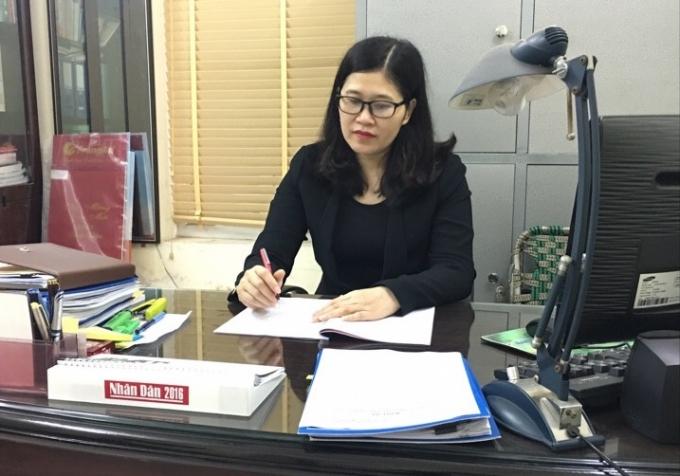 Bà Trịnh Thị Dung - Phó Chủ tịch UBND quận Cầu Giấy. Ảnh: Thu Thủy.