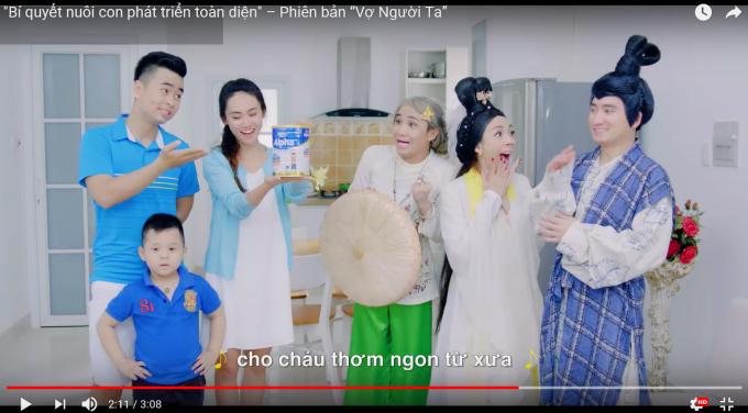 Hình ảnh cắt từ quảng cáo sữa bột Dielac Alpha của Vinamilk, quảng cáo đứng đầu bảng xếp hạng YouTube khu vực Châu Á – Thái Bình Dương.