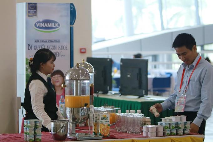 Đa dạng các sản phẩm của Vinamilk được phục vụ tại Hội nghị APEC 2017. (Ảnh: Xuân Phú)