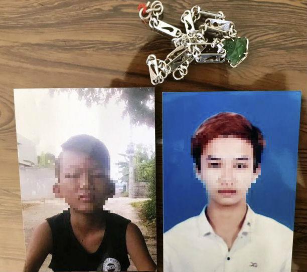 Hai đối tượng Nguyễn Đình Hân (áo đen) và Phạm Nhật Linh (áo trắng). (Ảnh. Công an Quảng Bình)