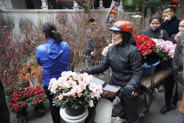 Những chuyến xe hoa liên tục đổ về chợ.