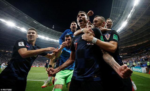 Các cầu thủ Croatia đã lần đầu tiên vào chung kết World Cup
