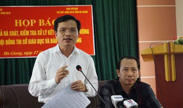 Ông Mai Văn Trinh, Cục trưởng Cục Quản lý chất lượng, Bộ GD&ĐT phát biểu tại buổi họp báo.