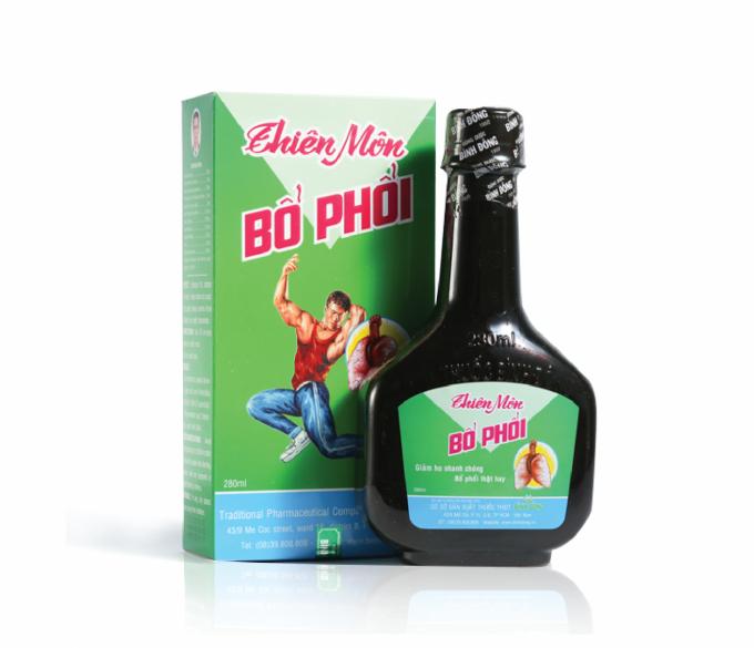 Sản phẩm Thiên môn bổ phổi của Công ty TNHH Dược phẩm Bình Đông.