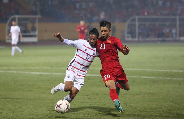 Đội tuyển Việt Nam vẫn tràn đầy tự tin dù phải làm khách trước Philippines trong trận bán kết lượt đi (ảnh: Huyền Trang)