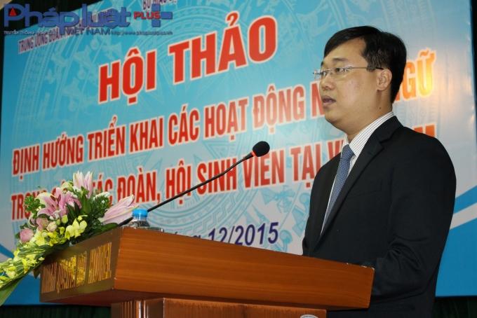 Ông Lê Quốc Phong phát biểu khai mạc hội thảo. (Ảnh: Đức Biên)