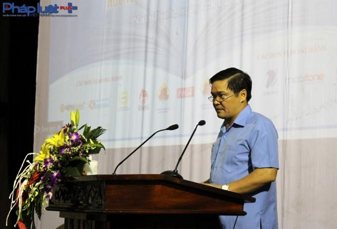 Phó Chủ tịch UBND tỉnh Nam Định -Bạch Ngọc Chiến phát biểu tại lễ khai mạc.