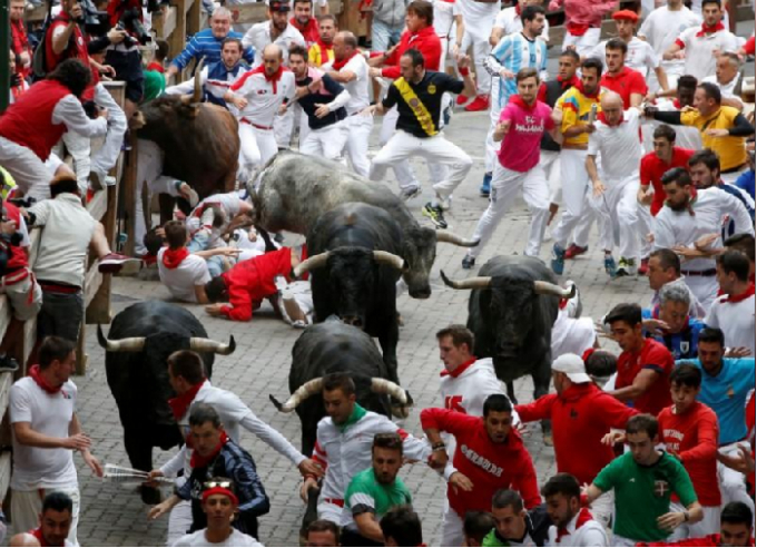 Tây Ban Nha: Ít nhất 10 người bị thương trong ngày cuối tại Lễ hội bò đuổi