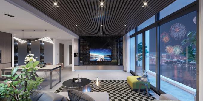 Choáng ngợp với không gian nội thất đầy cá tính của căn hộ đẳng cấp bên Hồ Tây