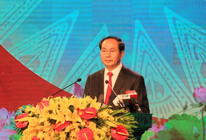 Chủ tịch nước CHXHCN VN Trần Đại Quang đã tham dự và phát biểu tại Lễ kỷ niệm 70 năm Ngày Bác Hồ lần đầu tiên về thăm tỉnh Thanh Hóa (20/2/1947 - 20/2/2017).