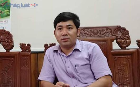 Ông Lê Văn Tuyên, Giám đốc Ban quản lý dự án huyện Hà Trung bị tố vòi vĩnh 100 triệu đồng của doanh nghiệp. (Ảnh: A.Thắng)