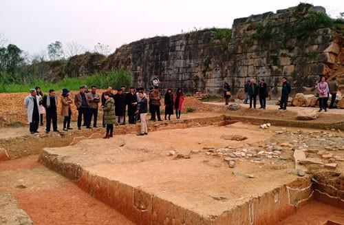 Địa điểm khai quật vừa qua tại Thành nhà Hồ