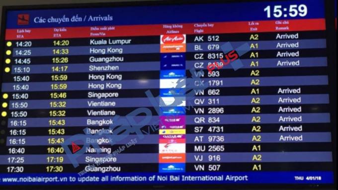 Lịch trình chuyến bay từSingapore về Việt Nam.