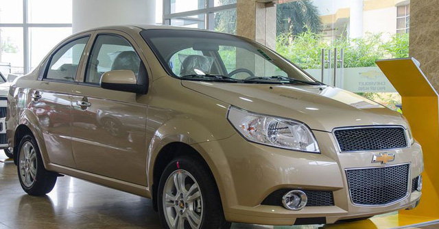 Mẫu sedan hạng B Chevrolet Aveo cũng được giảm đến 60 triệu đồng trong tháng 7.