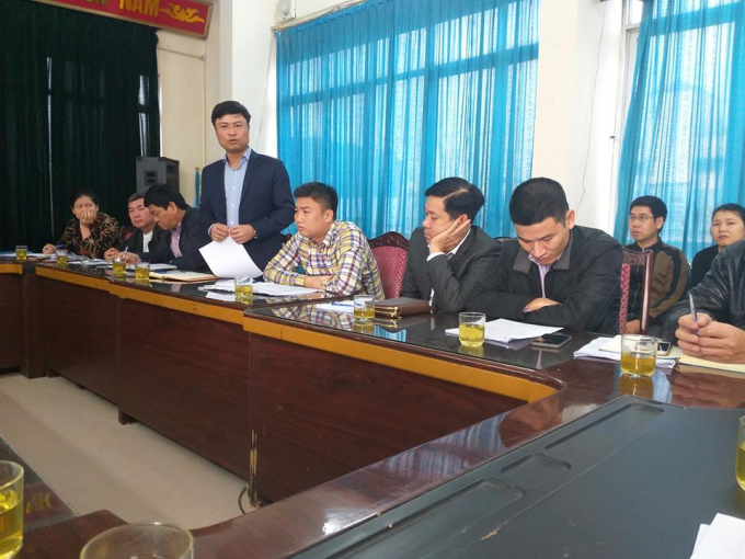 Đại diện Chủ đầu tư và Công ty Thuận An trong buổi trao đổi với các cơ quan báo chí diễn ra sáng ngày 29/1. Tại buổi làm việc này, PV Pháp luật Việt Nam đặt ra nhiều câu hỏi cho các bên, tuy nhiên không được trả lời cụ thể.