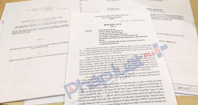 Đơn kêu cứu và các hồ sơ liên quan đến dự án, người lao động gửi đến Tòa soạn Pháp luật Plus - Báo Pháp luật Việt Nam.