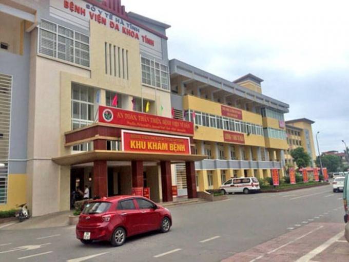 Bệnh viện ĐK tỉnh Hà Tĩnh, nơi xảy ra sự việc.