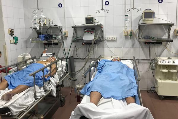 Bệnh nhân tai nạn giao thông nặng được điều trị tại phòng Hồi sức cấp cứu của BV Việt Đức.
