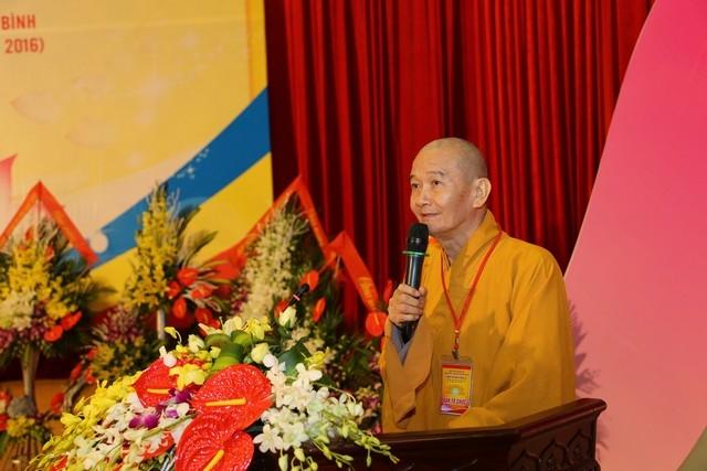 Hòa thượng Thích Thanh Hùng phát biểu khai mạc.