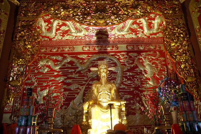 Hành trạng của vua Trần Thái Tông. Ảnh Giác Ngộ.