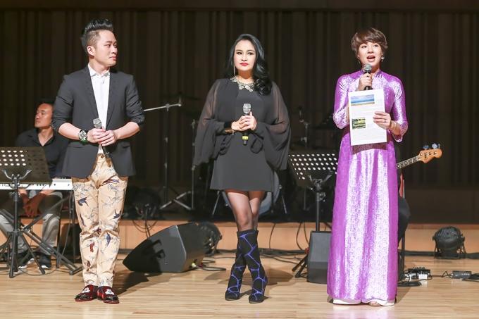 Diễm Quỳnh làm MC cho đêm nhạc Chảy đi sông ơi.