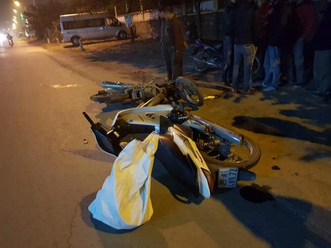 Hiện trường vụ tai nạn khiến 1 người tử vong thương tâm.