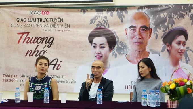 Đạo diễn Lưu Trọng Ninh và hai diễn viên trong phim