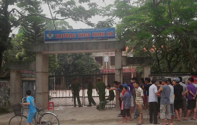 Trường THCS Ninh Xá nơi xảy ra vụ án mạng. (Nguồn ảnh: giadinh.net.vn)