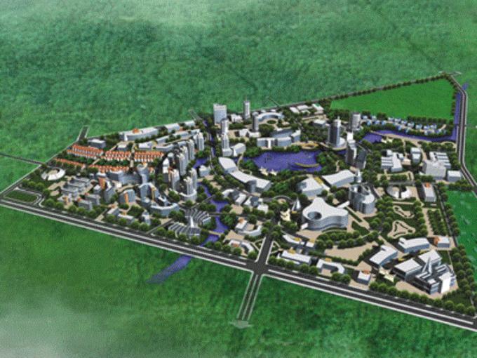 Phối cảnh tổng thể Khu công nghệ cao quy mô hơn 203ha ở quận Bắc Từ Liêm. Nguồn ảnh: Internet