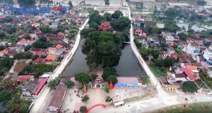 Toàn cảnh khuôn viên đền Trần Thương nhìn từ trên cao. Nguồn Đài PT-TH Hà Nam.