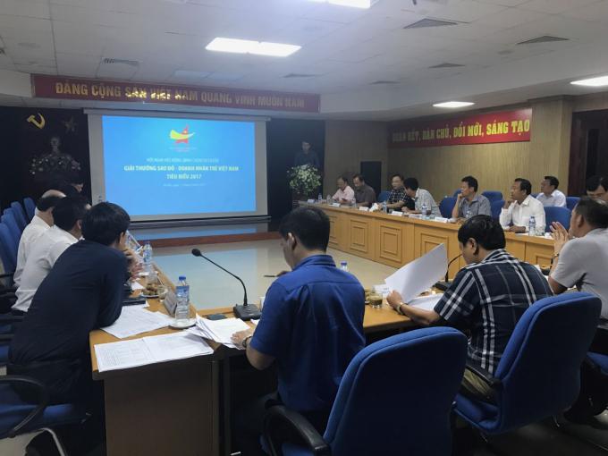 Hội đồng bình chọn sơ tuyển Giải thưởng Sao đỏ - Doanh nhân trẻ Việt Nam tiêu biểu 2017