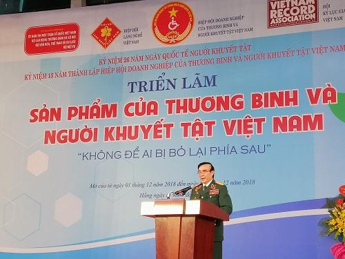 Thiếu tướng - AHLLVT Lê Mã Lương - Chủ tịch Hiệp Hội doanh nghiệp Thương binh và Người Khuyết tật Việt Nam.