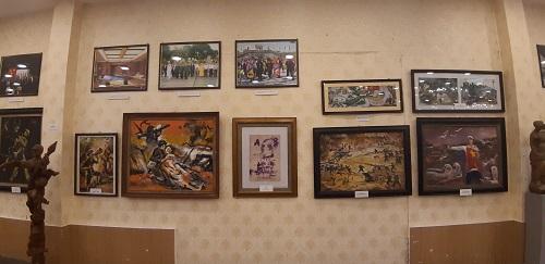 Một số tác phẩm điêu khắc và tranh vẽ của AHLLVT -Đại tá Lê Duy Ứng.