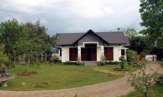 Một góc biệt thự xây trái phép của gia đình ông Đấu. Ảnh: Thái Hà/VNE