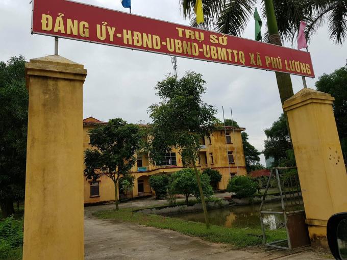 UBND xã Phù Lương.