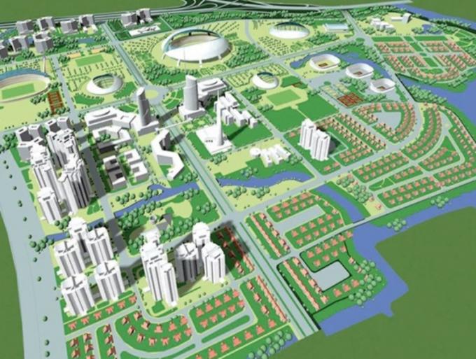 Sơ đồ quy hoạch Khu liên hợp TDTT Rạch Chiếc, quận 2, TP Hồ Chí Minh.