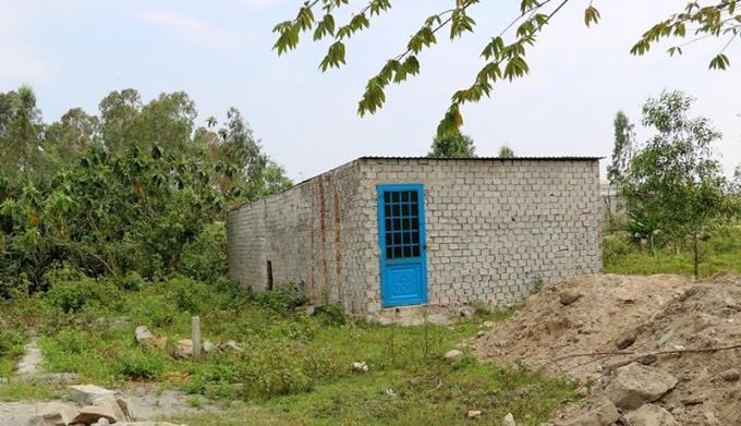 Một căn nhà xây tạm bợ, trái phép được phát hiện tại phường Hòa Khánh Nam (quận Liên Chiểu). Ảnh: TẤN VIỆT