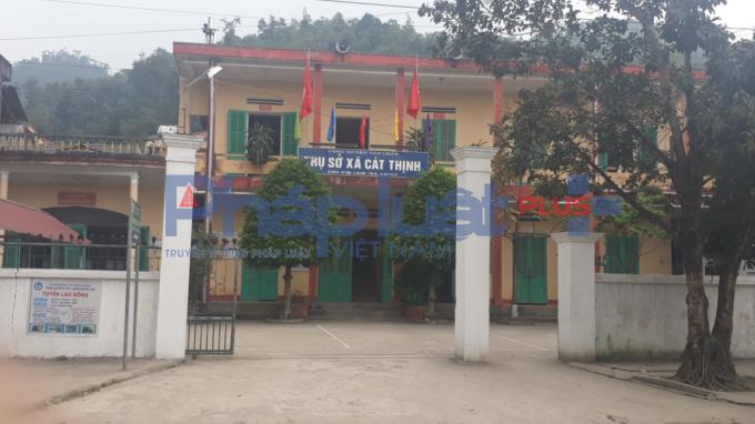 Trụ sở UBND xã Cát Thịnh.