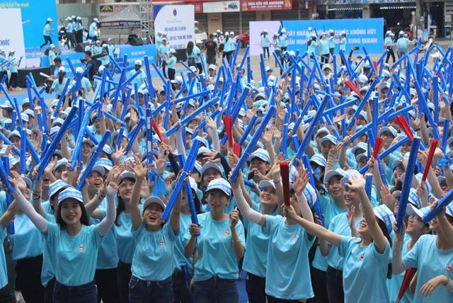 Hơn 1000 bạn trẻ Đà Nẵng tham gia ngày lễ hưởng ứng không hút thuốc lá
