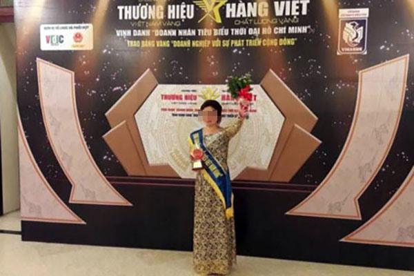 Hình ảnh được cho là mạo nhận giải thưởng của Đông y Dung Hà.