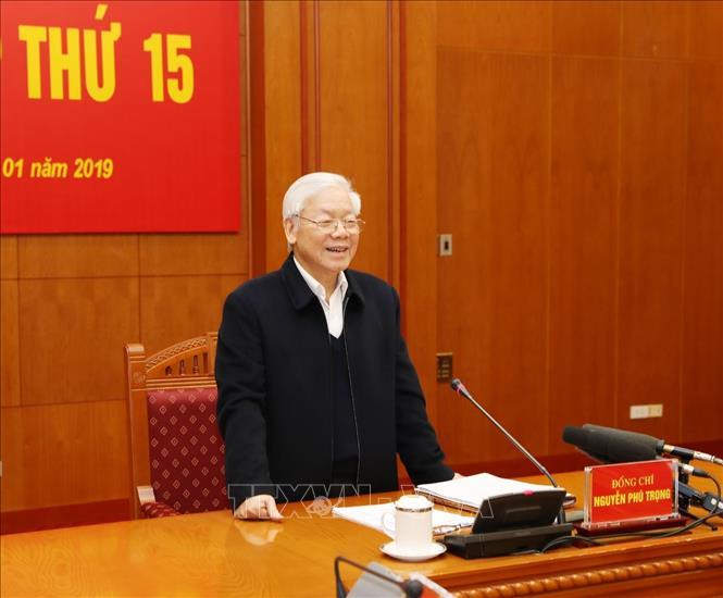Tổng Bí thư, Chủ tịch nước Nguyễn Phú Trọng phát biểu tại phiên họp.
