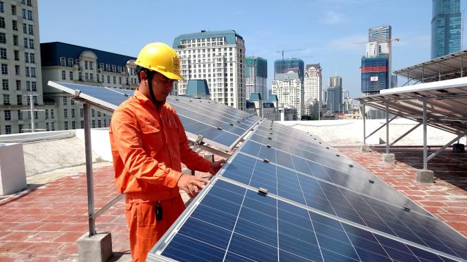 Hệ thống điện mặt trời áp mái tại Công ty Điện lực Nam Từ Liêm