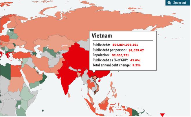 Nợ công lên tới 94,8 tỷ USD: Mỗi người dân Việt Nam đang gánh khoản nợ khoảng 23 triệu đồng