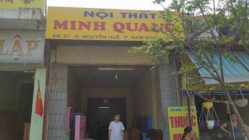 Ngôi nhà mà ông bà Phạm Văn Quang đang sinh sống trên thửa đất bị UBND TP Ninh Bình cấp và thu hồi GCNQSDĐ.
