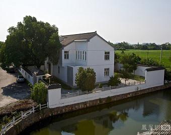 Căn nhà của Chu Vĩnh Khang nhìn từ trên cao.