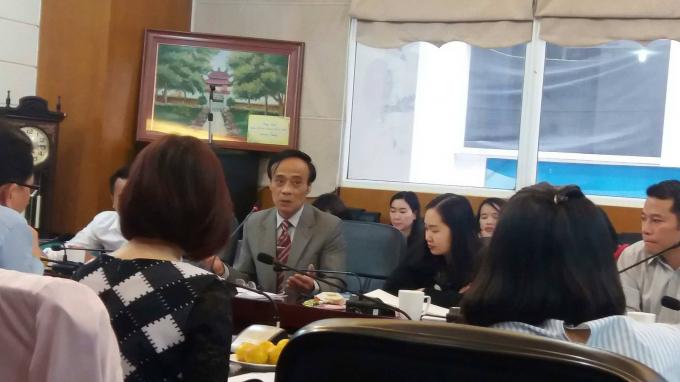 PGS -TS Phùng Trung Tập phát biểu tại Hội thảo.