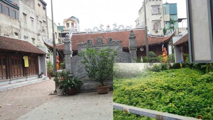 Nghìn mét đất bỏ hoang gần 20 năm cạnh đình Vĩnh Tuy, Hai Bà Trưng, Hà Nội. (Ảnh Lý Ly).